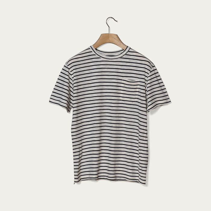 Navy Stripes Guerreiro T-Shirt | Bombinate