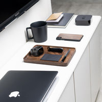 Walnut Wooden Catchall Tray | Bombinate