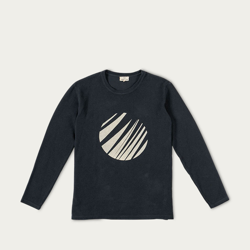 Carvao E Ecru Palm Moon Sweatshirt  | Bombinate