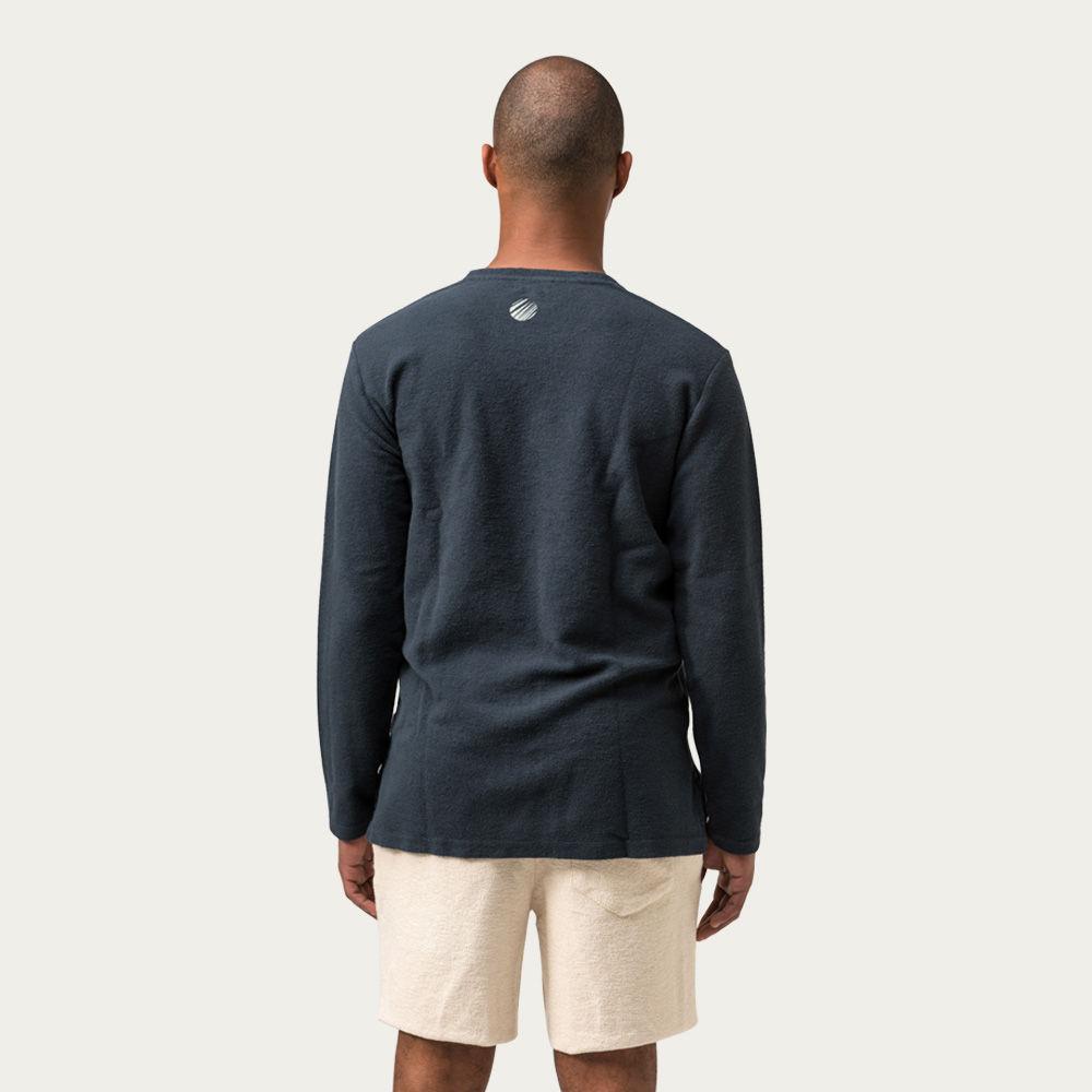 Carvao E Ecru Palm Moon Sweatshirt  | Bombinate