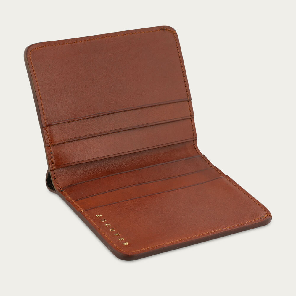 Cognac Slim Wallet | Bombinate