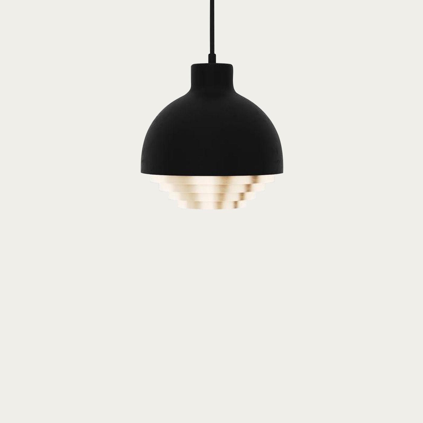 Black & Brass Strata Pendant Light | Bombinate