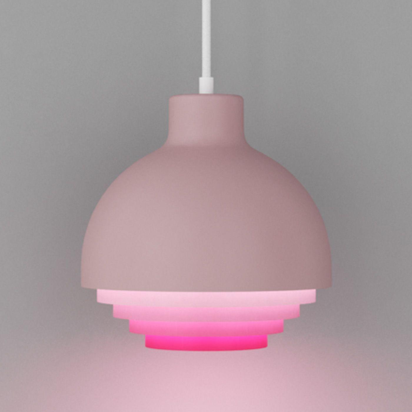 Pink Strata Pendant Light   Bombinate