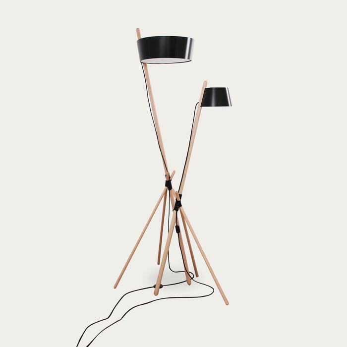 Black Floor Ka Lamp XL without Leather Tray  | Bombinate