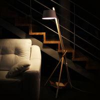 White Floor reading Ka Lamp M without Leather Tray  | Bombinate