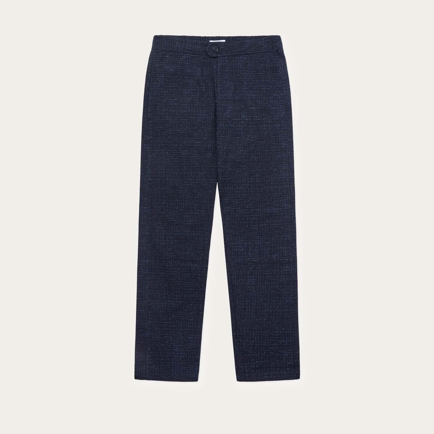 Navy Fleck Travel Trouser 0