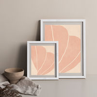 Twined 02 Powder Art Print White Frame | Bombinate