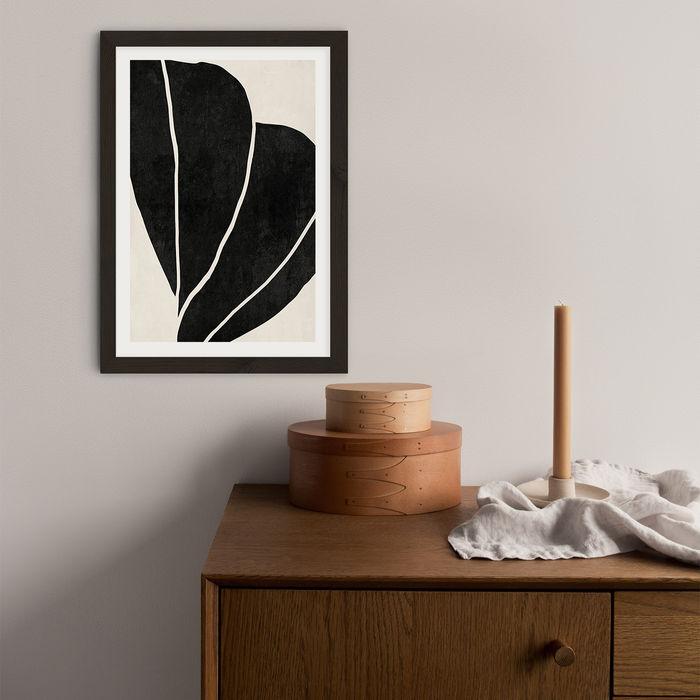 Twined 02 Black Art Print Black Frame   Bombinate