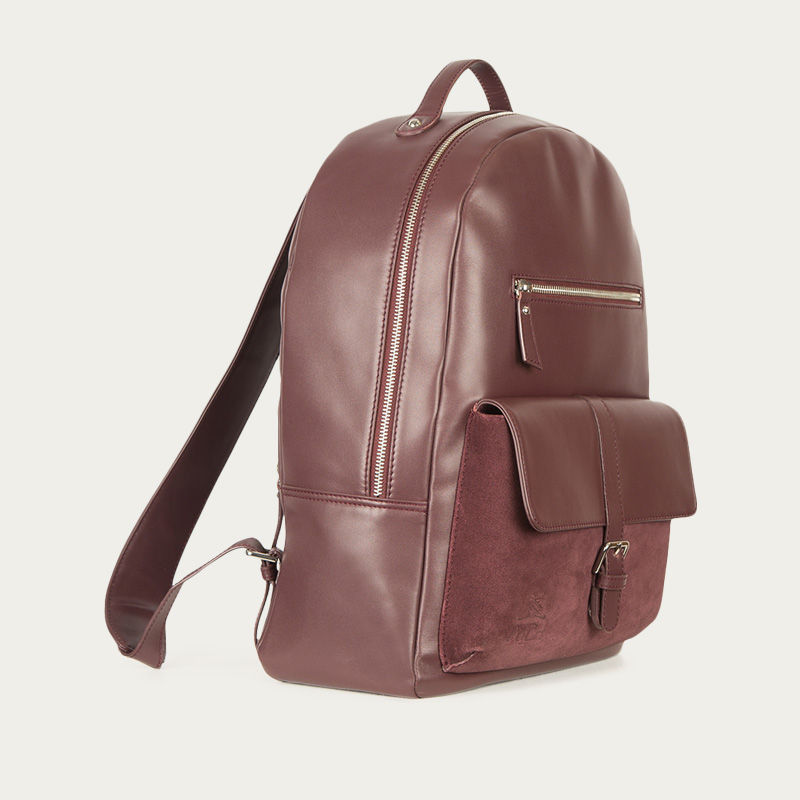 Burgundy Backpack  2