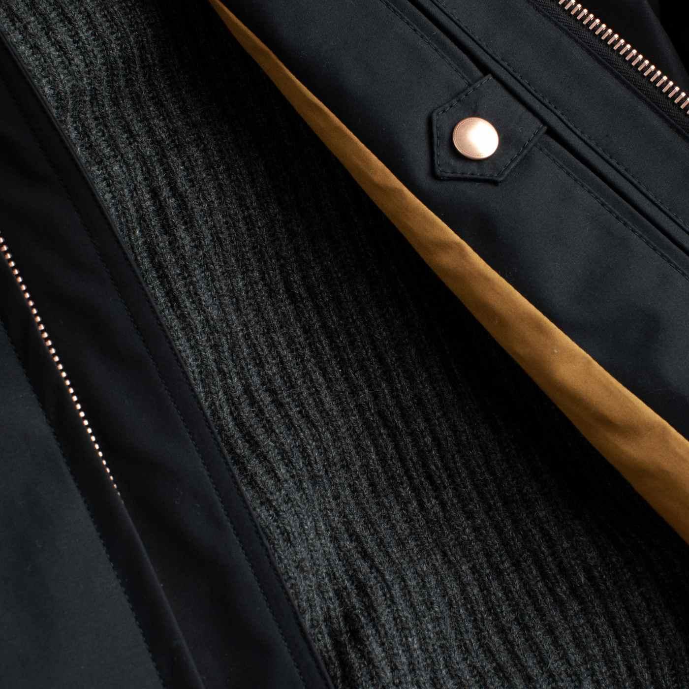 Black Ventile Harrington Jacket   Bombinate