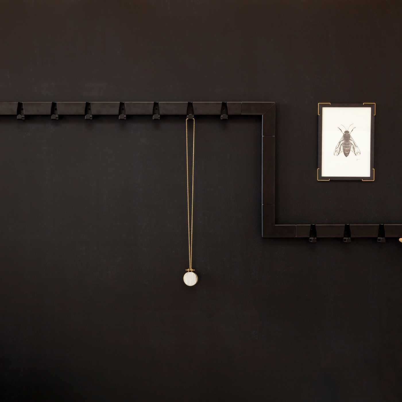 Black 10 Hooks Coatrack | Bombinate