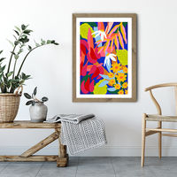 Heal Your Soul Floral Art Print Oak Frame | Bombinate