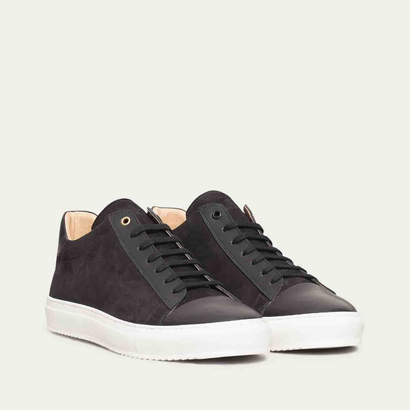 Black Mid Sneakers | Bombinate