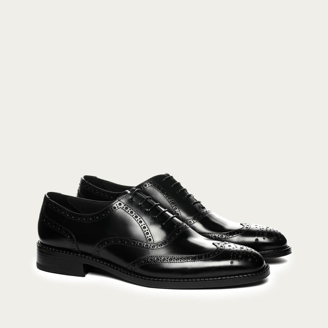 610f60adb87c2 Monterey Shoes | Black Mayfair Brogues | Bombinate