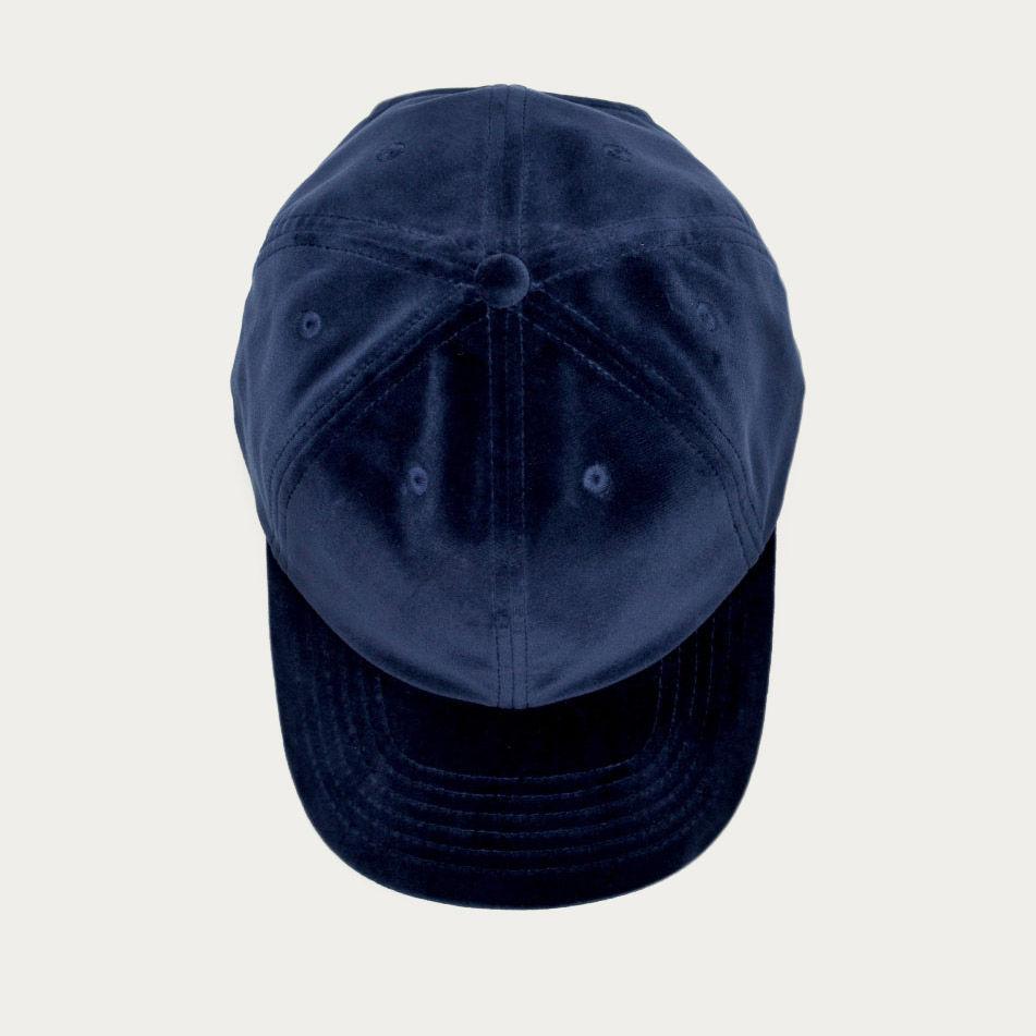 Navy Velvet Cap    Bombinate