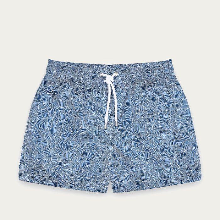 Blue Reflets Swim Shorts | Bombinate