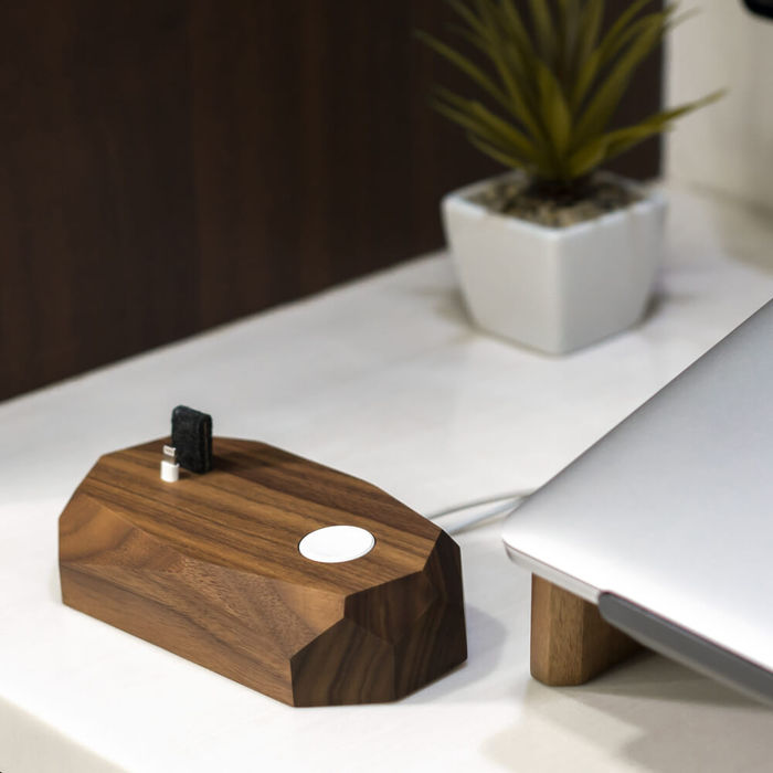 Walnut Combo Dock - iPhone & Apple Watch Charger | Bombinate