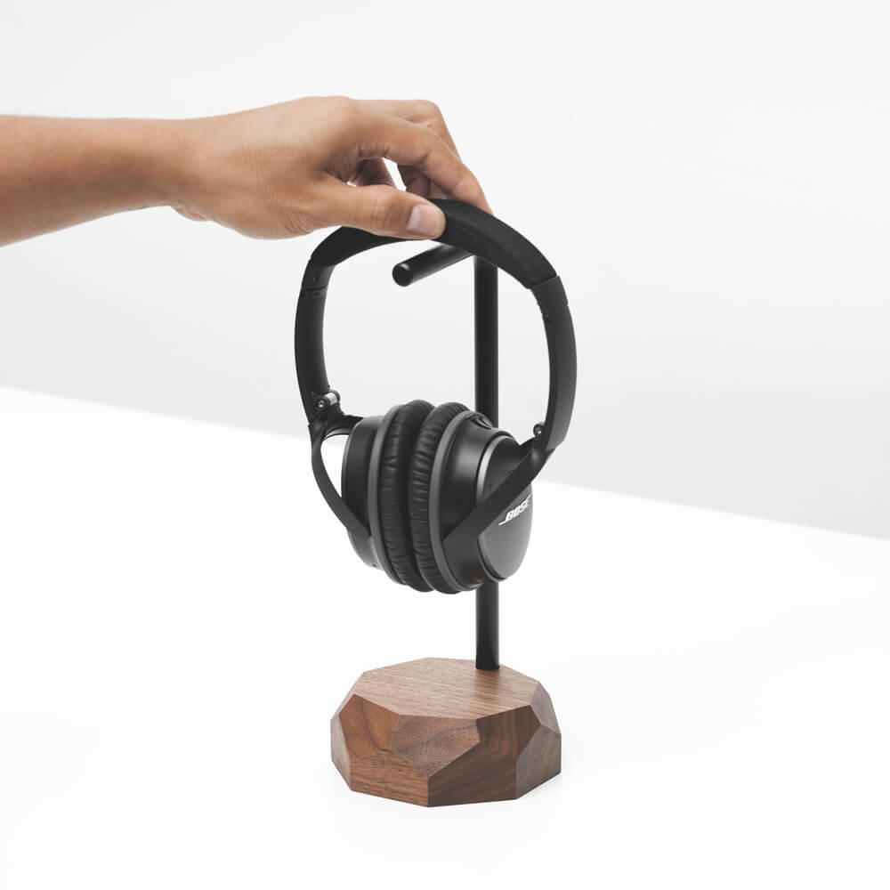 Walnut Headphone Stand | Bombinate