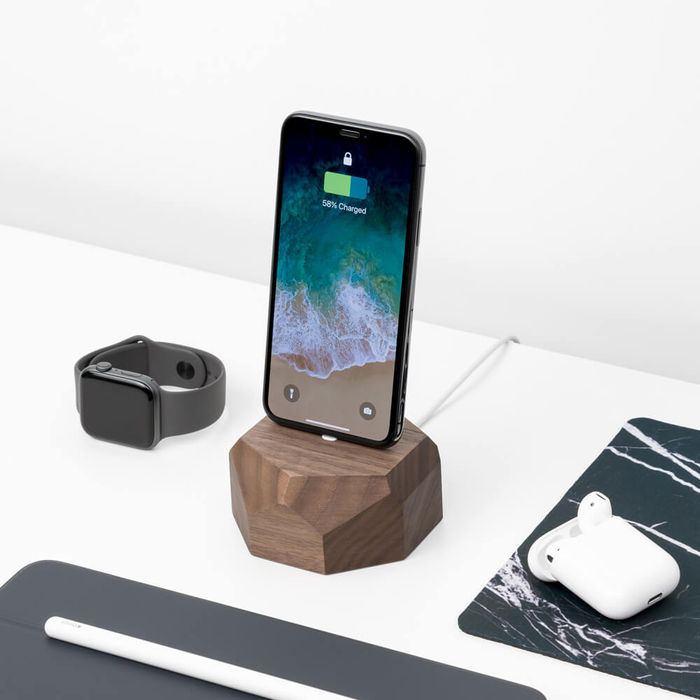 Walnut iPhone Dock | Bombinate