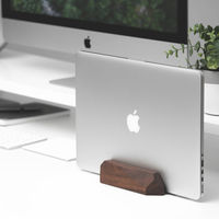 Walnut Laptop Dock - Vertical Stand | Bombinate