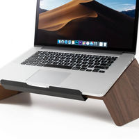 Walnut Wooden Laptop Stand | Bombinate