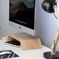 Oak Wooden Monitor Stand | Bombinate