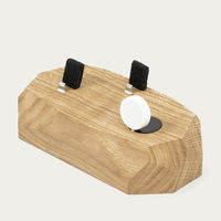 Oak Triple Dock - iPhone, Apple Watch, AirPods Charger | Bombinate