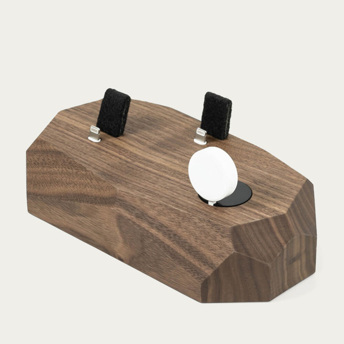 Walnut Triple Dock - iPhone, Apple Watch, AirPods Charger   Bombinate