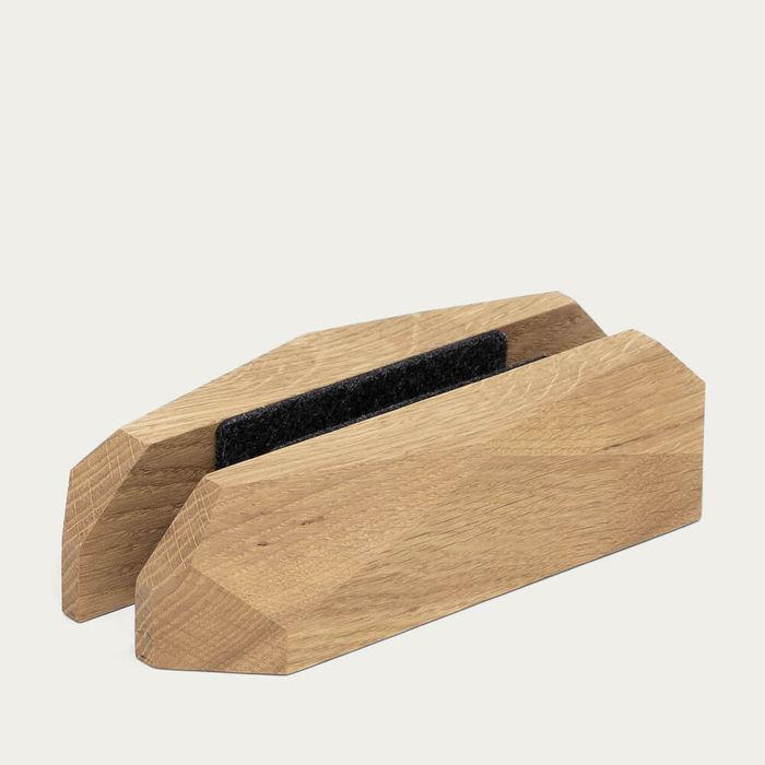 Oak Laptop Dock - Vertical Stand | Bombinate