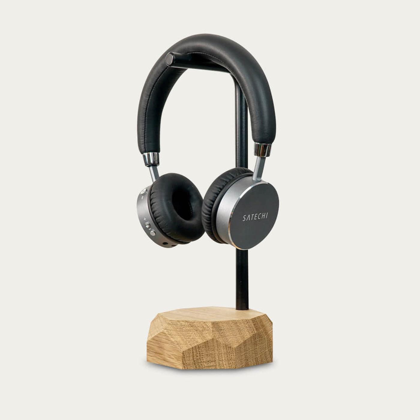 Oak Headphone Stand   Bombinate