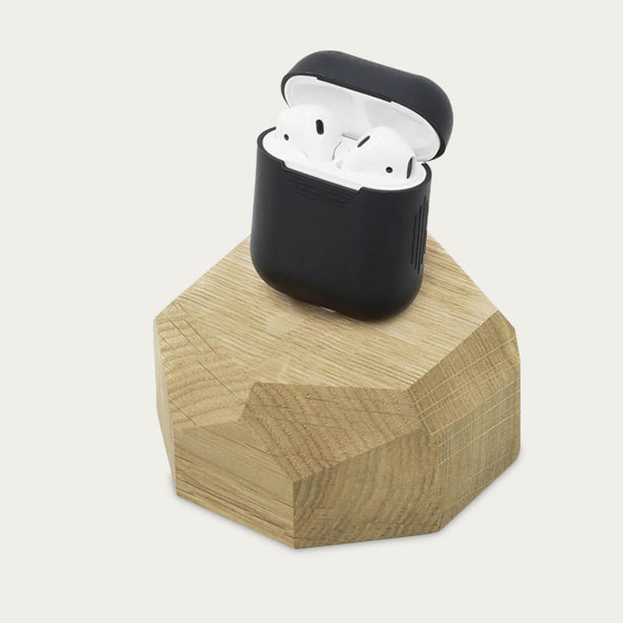 Oak iPhone Dock   Bombinate