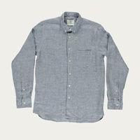 Blue Micro Squares Branco Shirt  | Bombinate