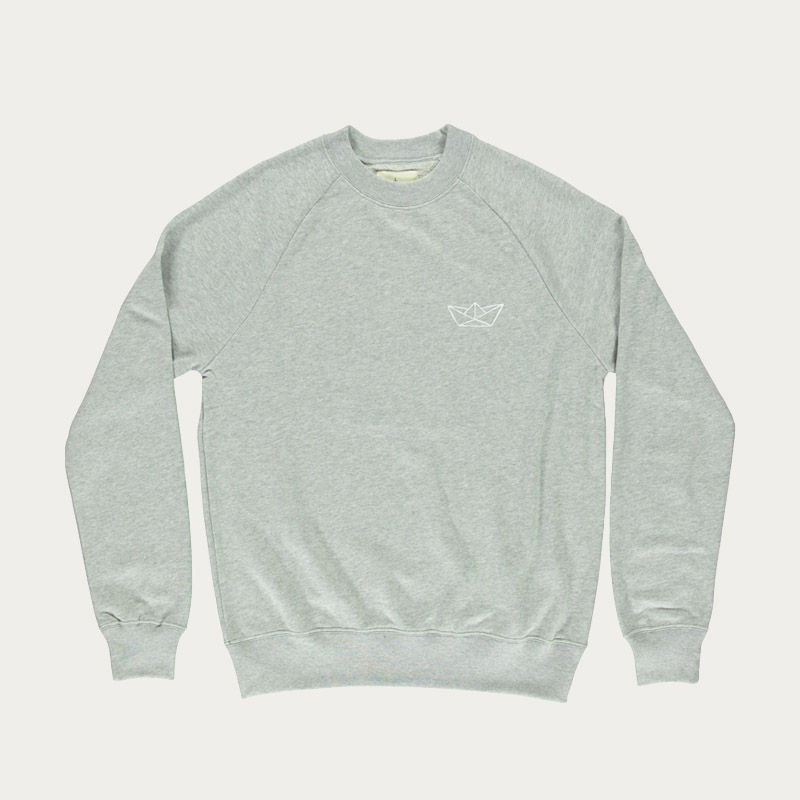 Grey Mesc White Paper Boat Haven Collab Cunha Sweatshirt  | Bombinate