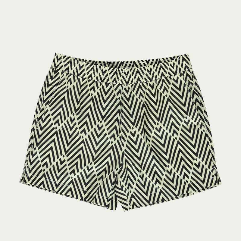 Black Pattern Morais Swim Short    | Bombinate