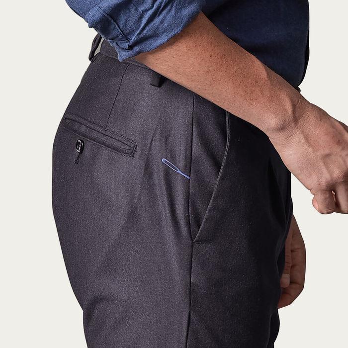 Blue Raval Trousers in Wool Flannel | Bombinate