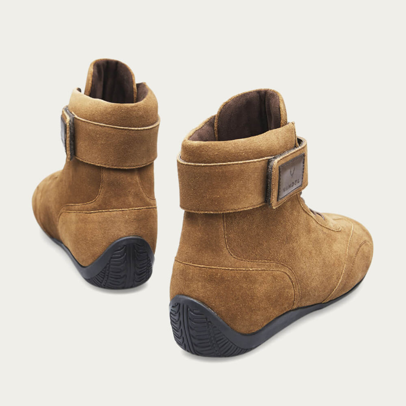 Brown Suede Iconic High Shoes | Bombinate