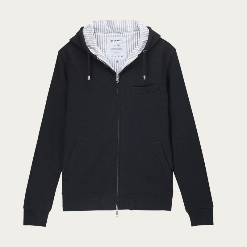 The Black Marmi Stripe Hood Jacket  | Bombinate