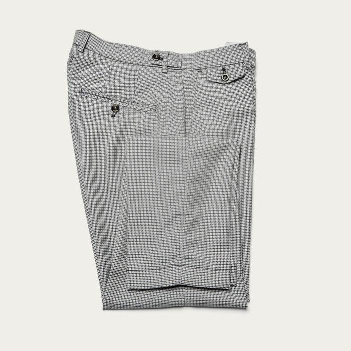 Light Grey Raval Trousers in 100% Fresh Wool | Bombinate