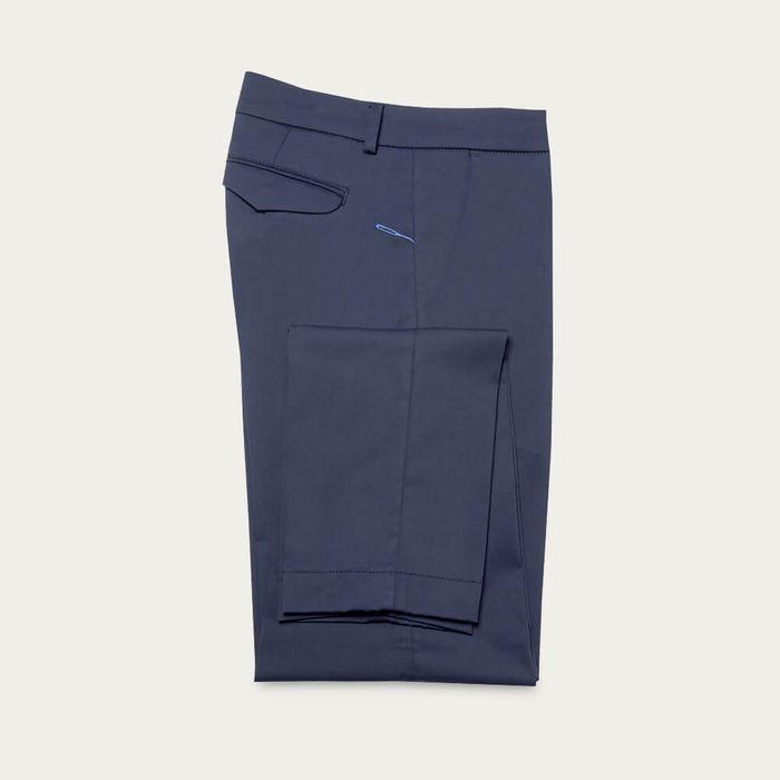 Navy Cotton Marais Trousers   Bombinate
