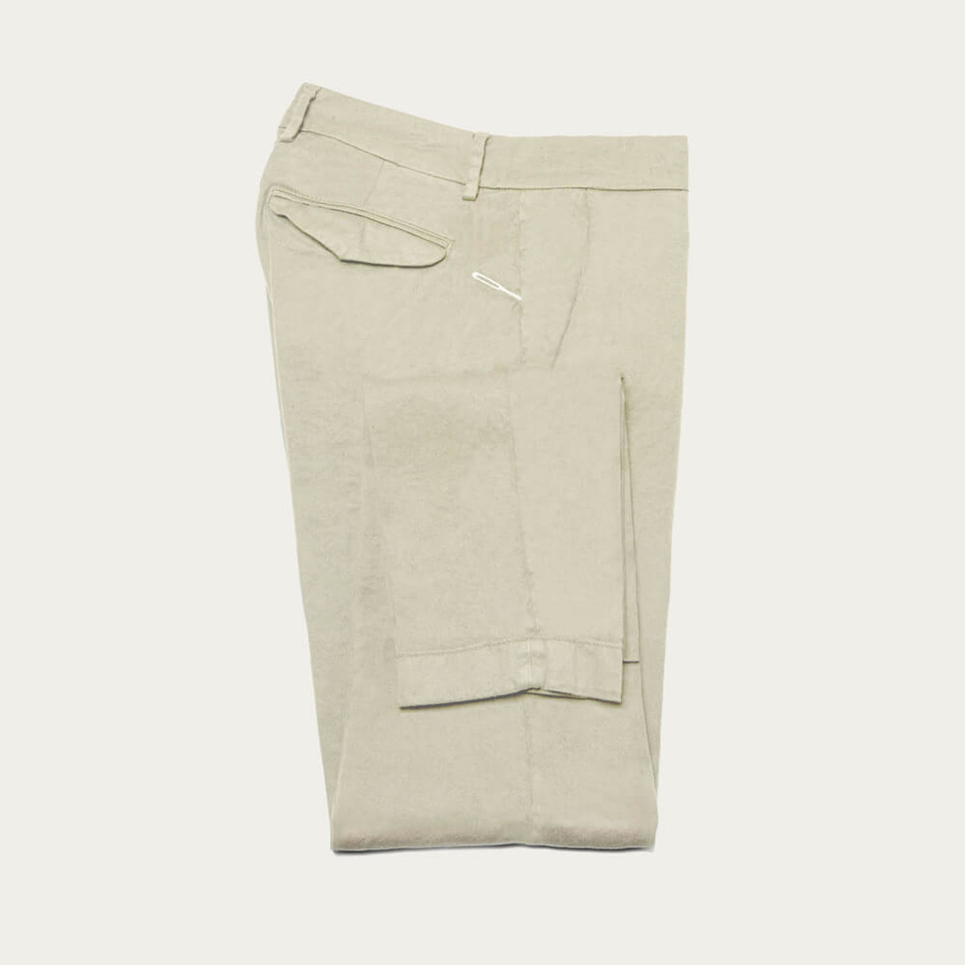 Ecru Linen Marais Trousers | Bombinate