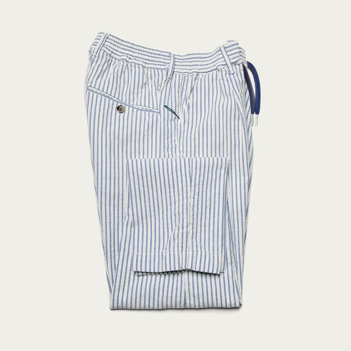 Navy Cotton Mitte Trousers | Bombinate