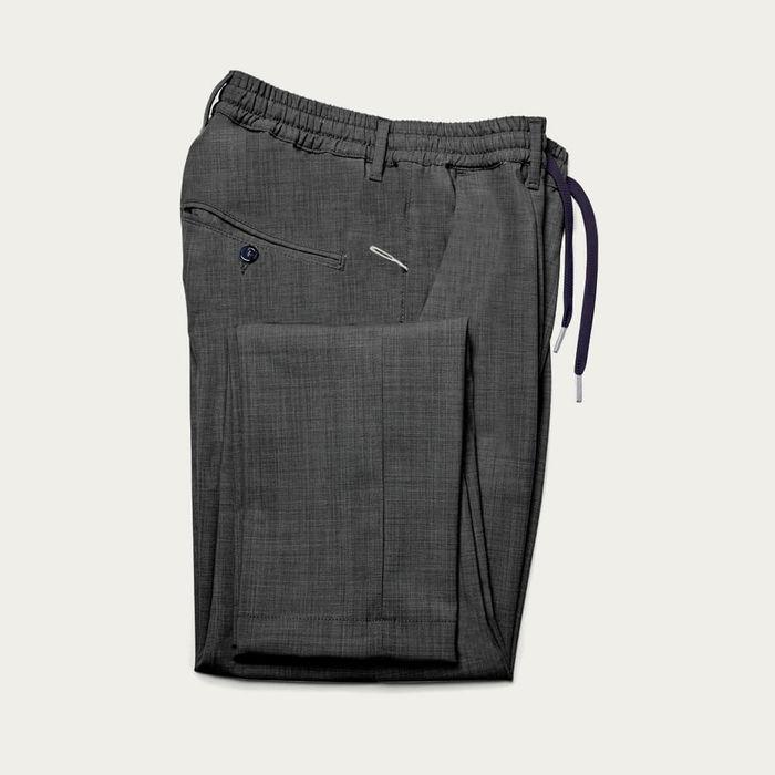 Medium Grey Mitte Trousers in Fresh Wool | Bombinate