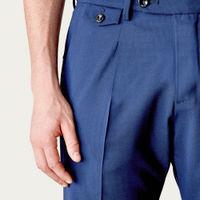Navy Raval Trousers in Fresh Wool   Bombinate