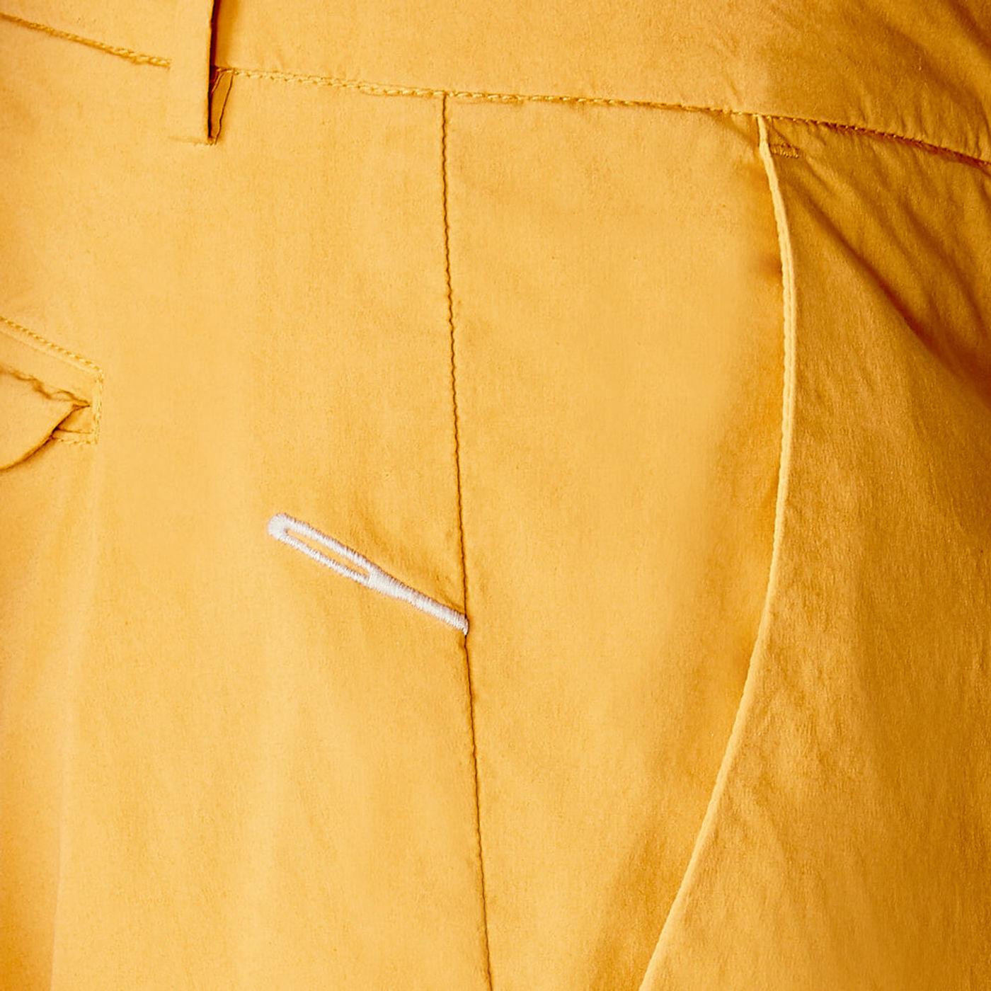 Mustard Cotton Marais Trousers   Bombinate