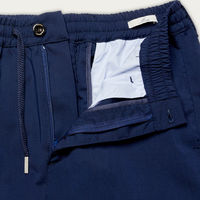 Navy Mitte Trousers in Fresh Wool | Bombinate