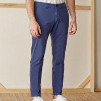 Navy Cotton Marais Trousers | Bombinate