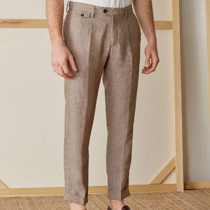 Moro Raval Trousers in 100% Linen | Bombinate