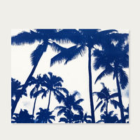 Acapulco Palm Sunset Handmade Cyanotype Art Print | Bombinate
