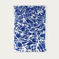 Chill Out Swimming Pattern Handmade Cyanotype Art Print | Bombinate