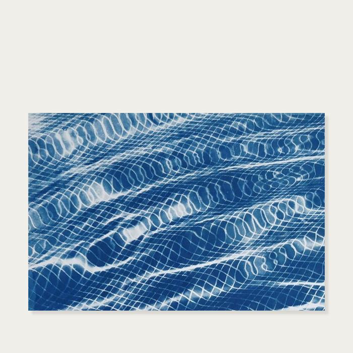 Miami Art Deco Pool Handmade Cyanotype Art Print | Bombinate